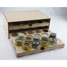 Two Drawer Unit for 50ml Enamel Paint Tins